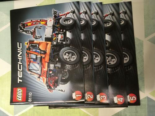 only Instruction, no Bricks Lego ® Technic de recette pour 8110 Unimog