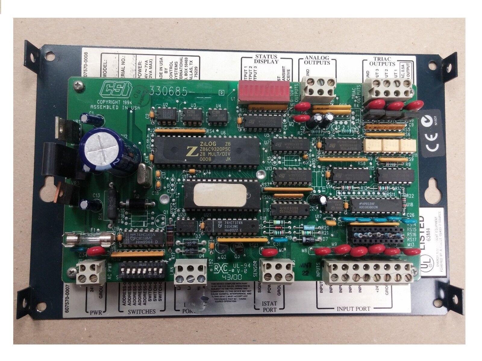 Tac Schneider CSI Control Systems International controller Model MR632 330685