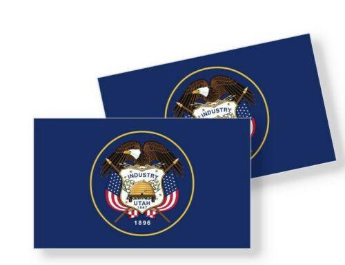 Utah Flag Stickers Flag Decals Vinyl Indoor Outdoor Stickers Set of 4
