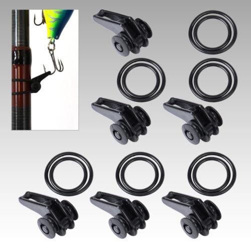 6 Set Adjustable Fishing Rod ecure Fuji Hook Keeper Holder Lures Jig cr