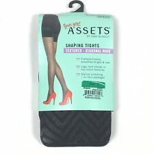 c5ffa2b94 Assets Shaping Tights Textured - Size 3 Diagonal Wave Black Spanx Sara  Blakely