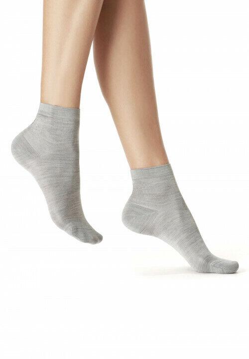 Oroblu Socks Silky Maxi Sneaker Socken, 100% Seide, perle melange, I=36-38
