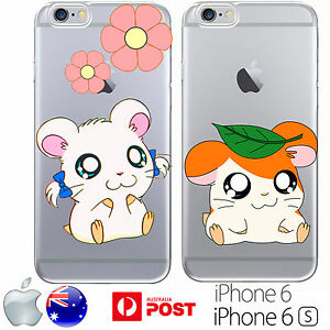 silicone case cover hamtaro cute cartoon hamster orange bijou flower