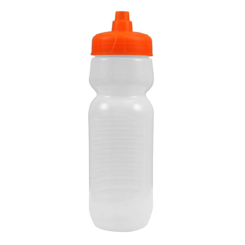100 Paquete a granel 24 onzas de botellas de agua-Botella de helado con tapas de Naranja Hecho en Estados Unidos