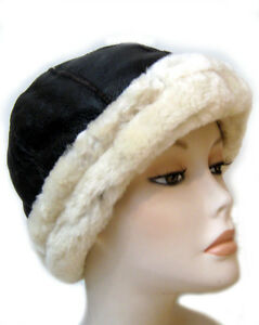Image is loading NEW-mens-womens-Beanie-Round-Brown-Sheepskin-Shearling- 5949f8790f6