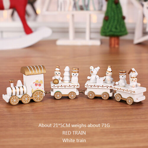 Christmas Wooden Train Ornaments Toy Kindergarten Home Decorations Kids Gift