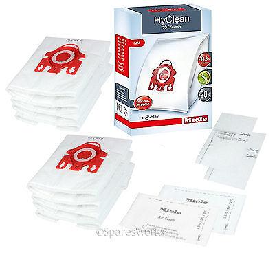 8 x MIELE FJM Dust Bag Genuine Original Hyclean Bags Motor Filter Pack