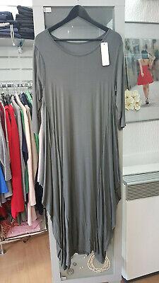 Kleid lang traumhaftschön Khaki Grün Gr.42/44 (Q39)   eBay
