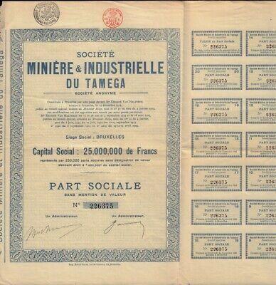 Miniere /& Metallurgique du Tambov 1911 Brussels Belgium RUSSIA MINING Soc