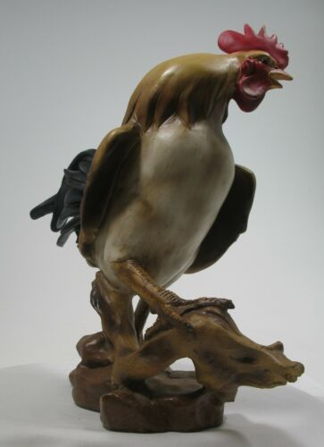 """Homeview Design Rooster with Red Cocks Comb 13/"""" Figurine 9826 Brand New in Box"""