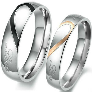 5-15-Stainless-Steel-Wedding-Engagement-Ring-Pair-Set-Heart-Anniversary-Couple