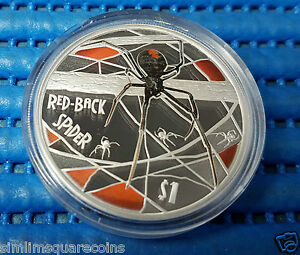 2006-Australia-Tuvalu-1-Red-Back-Spider-1-oz-999-Fine-Silver-Proof-Coin