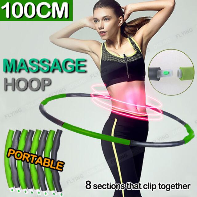 NEW 100CM Fitness Hula Hoop Body Massage Waist Slim Exercise Foam Padded Hoops
