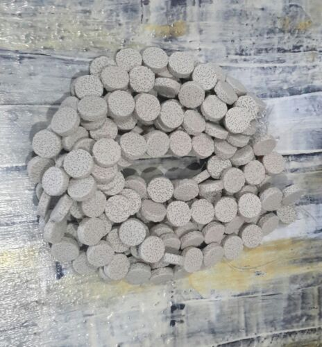 Natural Lava Beads Flat  Round 20x6mm Beige Free Postage Oz Seller