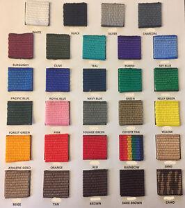100/% Polypropylene Webbing 50 Yard Roll Light//Medium Weight Choose Your Color