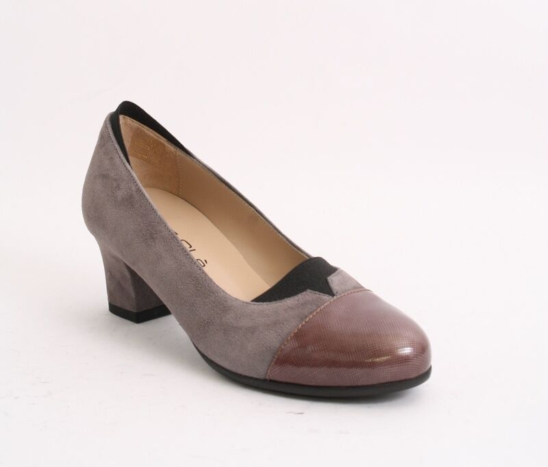 MOT-CLe 6008f Multi-color Suede   Patent Leather Pumps 36.5   US 6.5
