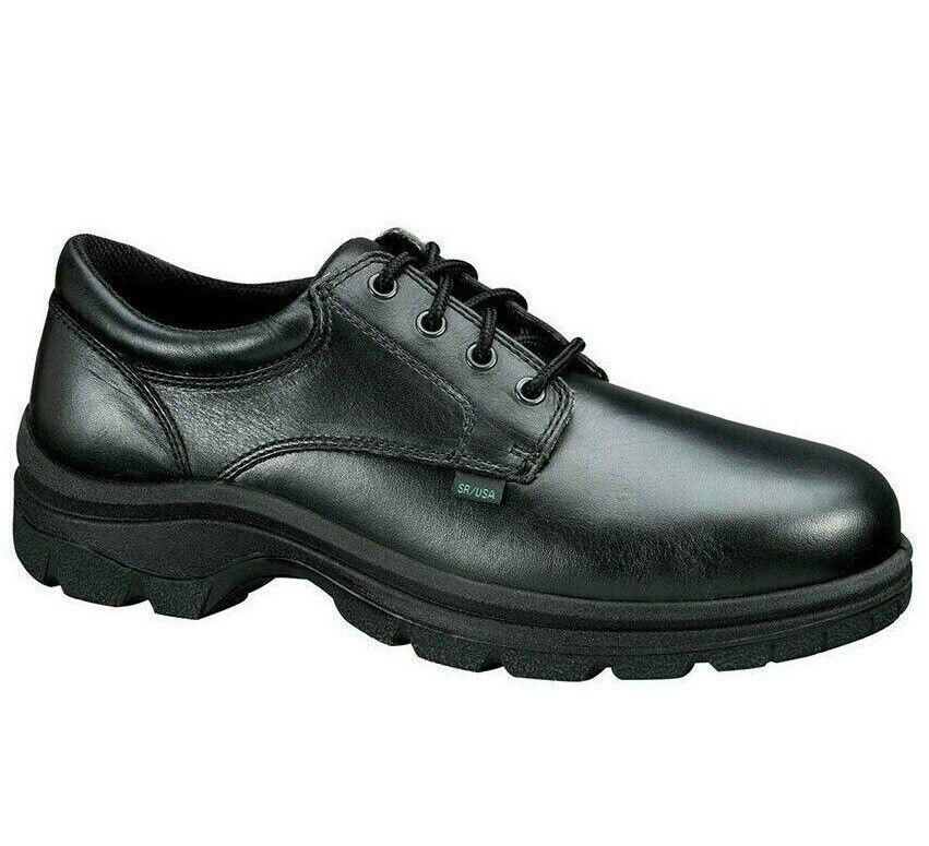 Thgoldgood TH834-6905 Men's Work shoes Plain Toe Black Full Grain Leather shoes