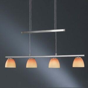 Naranja Péndulo Wofi Regulable Plata Altura Luz Madison Colgante Cristal Lámpara Detalles de PiXwkuTZO