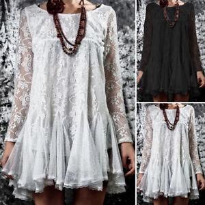 ZANZEA-Women-Long-Sleeve-Waterfall-Shirt-Tops-Lace-Crochet-Loose-Blouse-Jumper