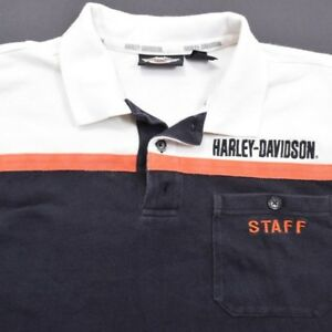 Harley-Davidson-Motorcycles-Staff-embroidered-staff-patch-Polo-Shirt-Medium