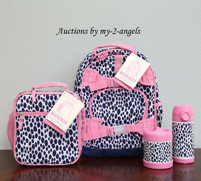 Pottery Barn Kids 4 Pc Dalmatian Dot Small Backpack Lunch