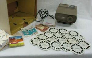 Viewmaster-Full-Size-Projector-Vintage-amp-15-Slides-Disc-Sawyers-Original-Box-JB