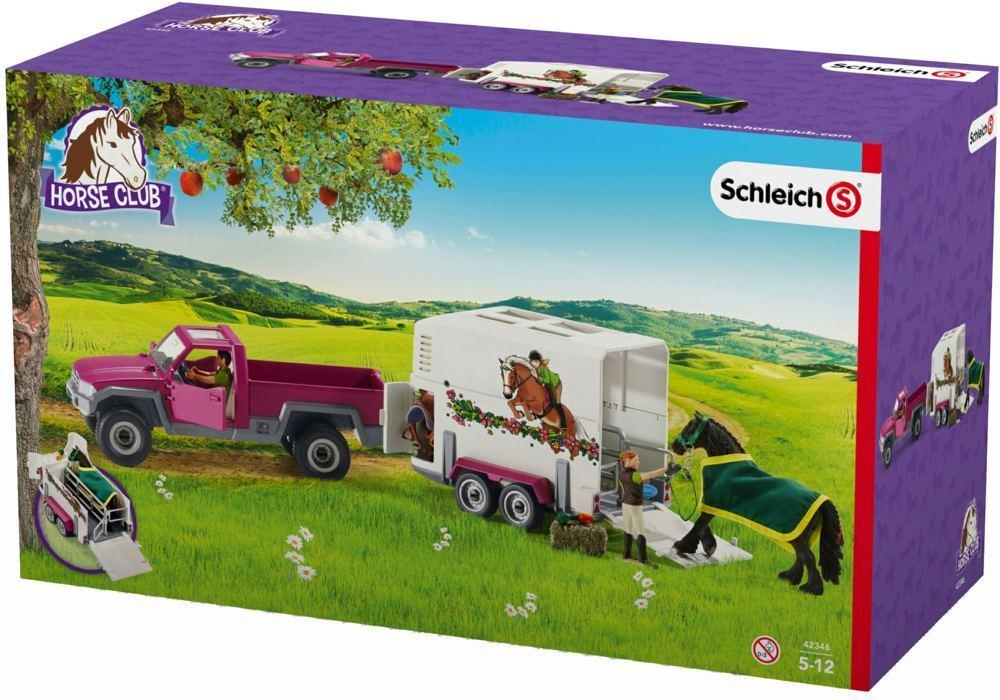 Schleich 42346 - Pick-Up con Remolque de Caballos, Nuevo Embalaje Original