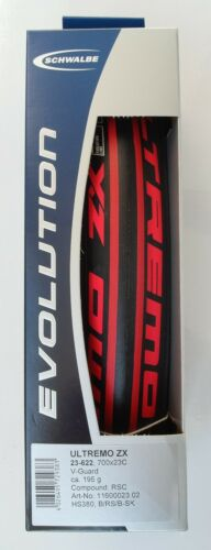 Schwalbe ULTREMO ZX Folding 700 x 23C Speed Guard RaceStar Red Stripes Road Tire