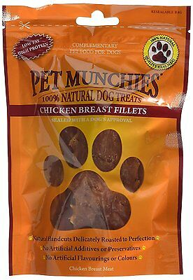 Aspirante Pet Munchies Cane Snack Di Pollo Seno Filetto 100 Gr (confezione Da 8) Luminoso A Colori