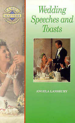 1 of 1 - Wedding Speeches and Toasts (Family Matters), Lansbury, Angela, Very Good Book