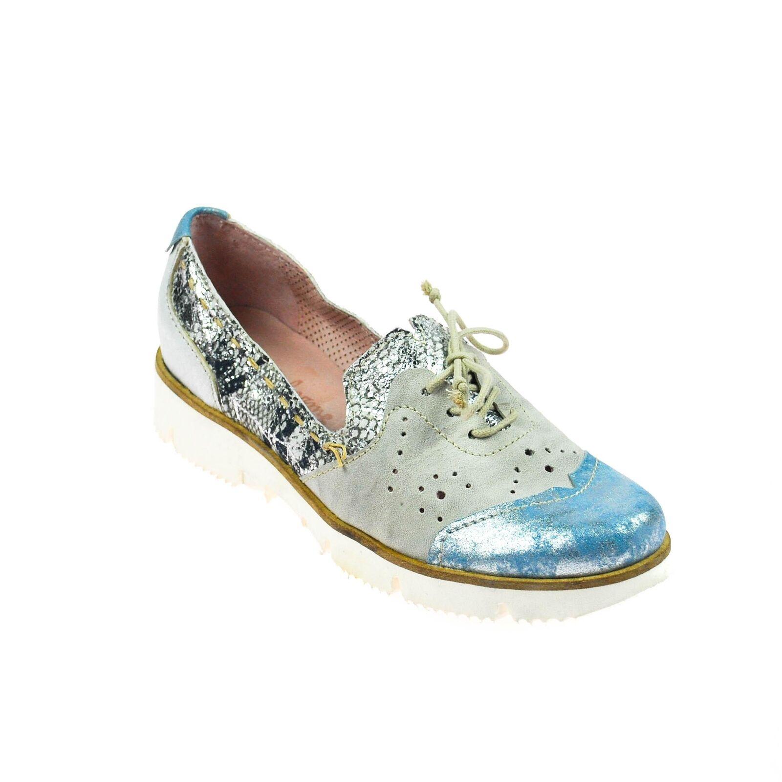 Charme femmes chaussure cuir gris bleu argent multiCouleure Taille 37