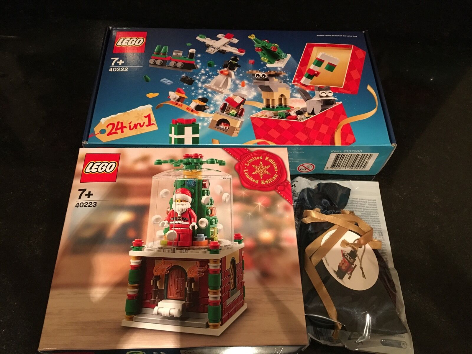 LEGO Christmas Set 24-in-1 (40222) Snow Globe (40223) Toy Soldier (5004420) Xmas