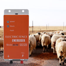 10km Solar Electric Fence Charger Energizer Ranch Animals Orchard Controller