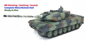 Heng-Largo-1-16-RC-NATO-Leopard-2A6-BB-tanque-con-todos-los-chasis-de-metal-casco-de-fondo