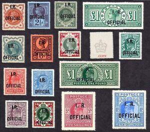 Queen Victoria-König Edward VII Inland Revenue Beamten Set 15 (Fälschungen)