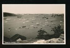 Cornwall FALMOUTH Harbour tall ship tugs c1940/50s? RP PPC