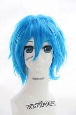 W-01-F10 blau blue 35cm COSPLAY Perücke WIG Perruque Haare Anime Manga