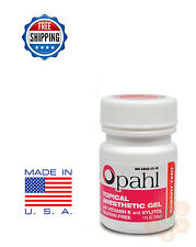Opahl 20% Benzocaine Topical Anesthetic Gel CHERRY Tattoo Numbing Piercing - 1oz