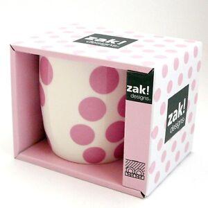 Zak-Design-Tasse-Cafe-Mug-Dot-Dot-Rose-Porcelaine-Paquet-Cadeau