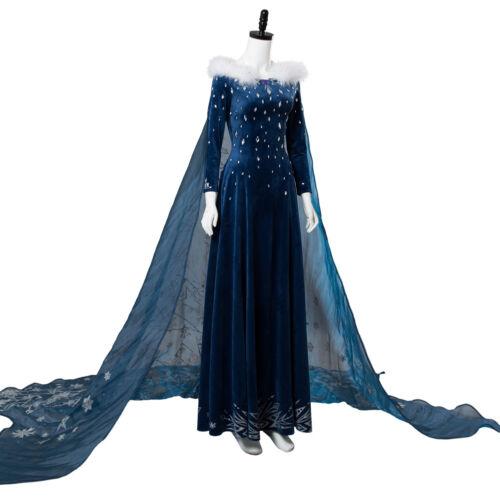 Details about  /Frozen 2 Olaf/'s Frozen Adventure Elsa Dress with Cloak Cosplay Costume Halloween