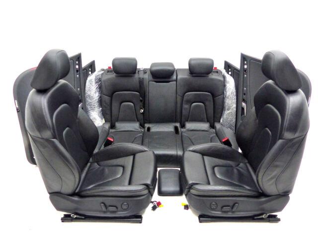 Audi A4 8K Avant Lederausstattung Sitze Sitzheizung Valcona schwarz elektrisch