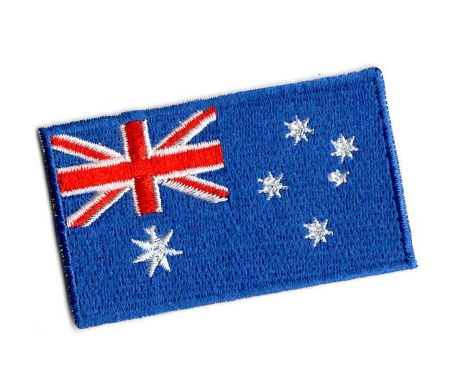 AUSTRALIAN FLAG EMBROIDERED BADGE