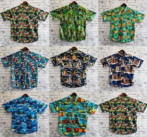 Men-039-s-Hawaiian-Shirt-100-Cotton-Summer-Floral-Beach-Vintage-Short-Sleeve-S-XXL