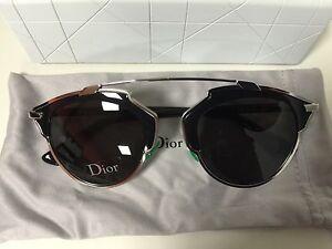 89d7db734b Christian Dior SO REAL Palladium Black Silver Frame Grey Lens B1A Y1 ...