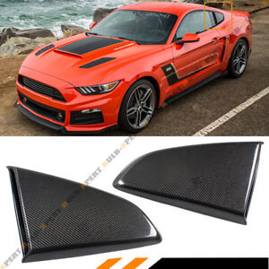 For-15-2020-Mustang-R-Style-Carbon-Fiber-Side-Window-Quarter-Scoop-Louver-Covers