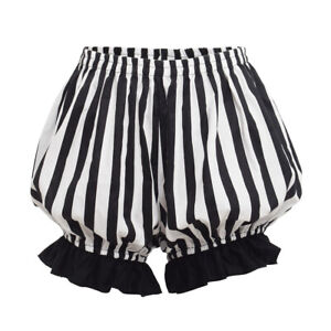 Women-Safety-Pants-Bottoms-Striped-Shorts-Lolita-Girls-Bloomers-Casual-Pants