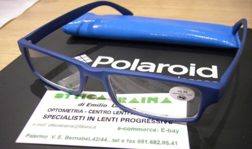 3.50 Blu opaco Occhiali x Lettura Reading Glasses Polaroid R965 F