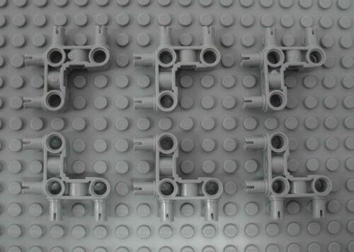 6x Eck Verbinder 4 Pins Pin Connector Perpendicular 3x3 55615 LEGO Technic