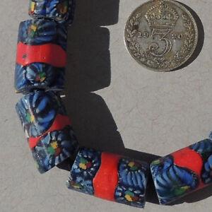 10-old-antique-venetian-tubular-millefiori-african-trade-beads-4750