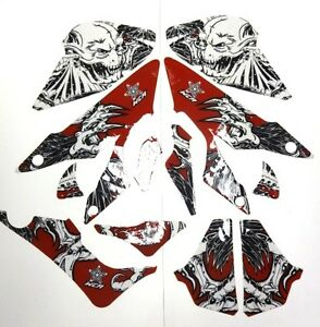 Honda-TRX-450-Quad-ATV-Graphic-Decal-Kit-West-Coast-Demon-Red-New-no-fend